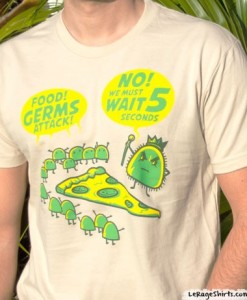 5 second rule t shirt germs funny pizza