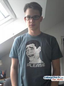 ben from munich germany wearing yao ming bitch please meme t-shirt