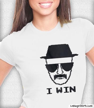 breaking bad heisenberg i win shirt