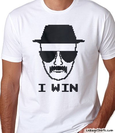 breaking bad heisenberg i win t-shirt
