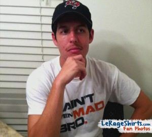 brennan ft myers usa wearing i aint even mad bro t-shirt
