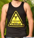 caution getting swole gym shirt guys