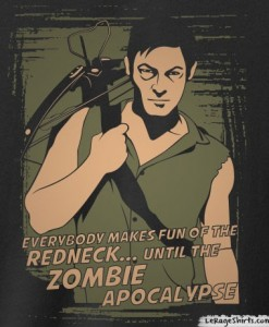 daryl dixon everybody makes fun of the redneck until the zombie apocalypse t shirt