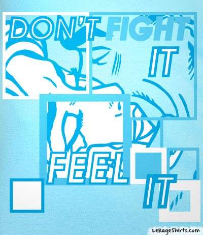 cool don't fight feel it ladies shirt