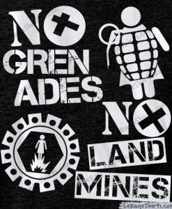 funny jersey shore no grenades no landmine t-shirt
