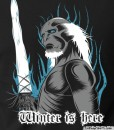 winter is here t-shirt featuring captain white walker