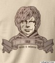 tyrion lannister imp in pimp t-shirt design