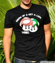 grow up and get a life done mario bros mushroom t-shirt