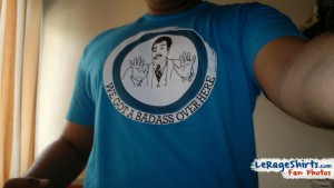 jesun from mumbai india wearing we got badass over here meme t-shirt