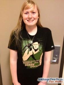 kristin from indiana pennsylvania usa wearing daryl dixon redneck t-shirt