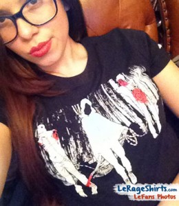 krystal from new york wearing michonne the walking dead ladies tee