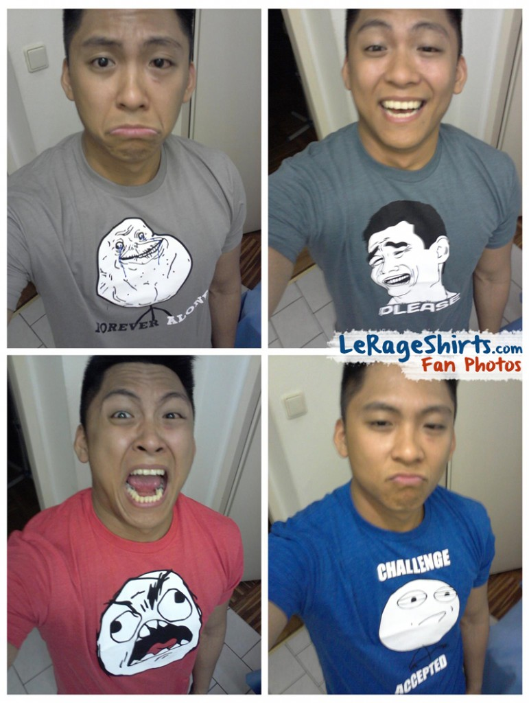 lance vienna austria wearing forever alone yao ming rage guy challenge accepted memes