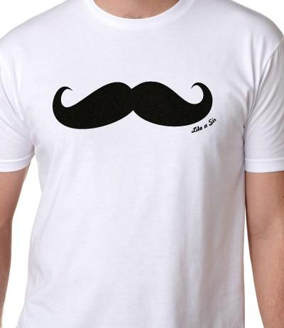 like a sir mustache t-shirt guys