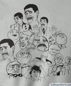 meme dream team t-shirt rage faces