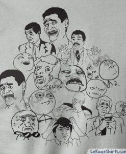 meme dream team t-shirt rage faces