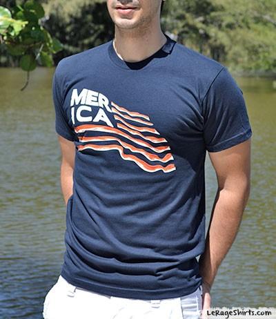 merica bacon flag t-shirt guys