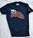 merica t-shirt featuring bacon and flag