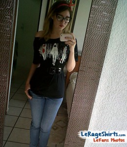 micheline wearing michonne and walkers t-shirt with style