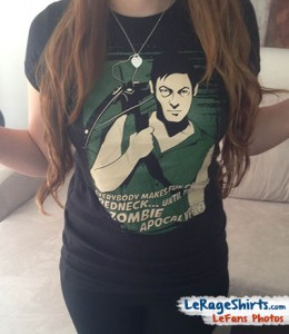 nati florida wearing daryl dixon everybody makes fun of the redneck until the zombie apocalypse t-shirt