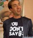 nicolas cage wearing you dont say meme t-shirt