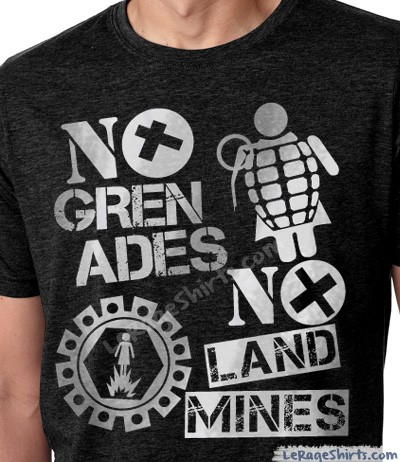 no grenades no landmine jersey shore t-shirt guys