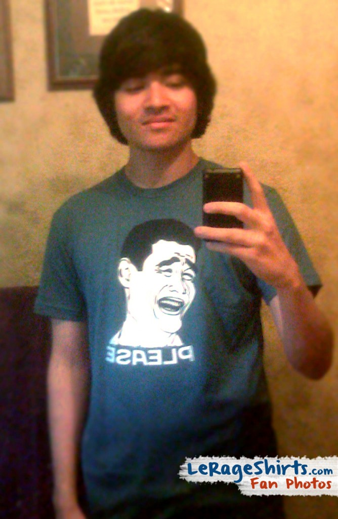 ronnie from california usa shows adoration for yao ming by wearing bitch please t-shirt