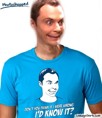 sheldon cooper the big bang theory tee