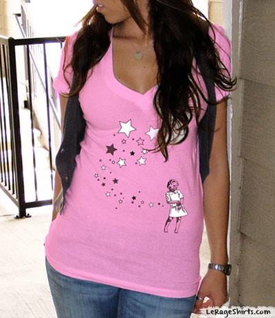 star girl ladies t-shirt
