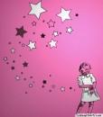 star girl ladies top pink