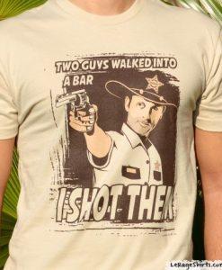 the walking dead rick grimes i shot them shirt