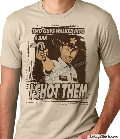 the walking dead rick grimes i shot them t-shirt