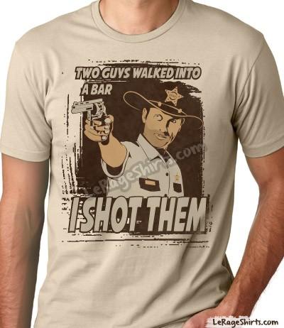 The Walking Dead Rick Grimes T Shirt I Shot Them Le