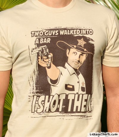 the walking dead rick grimes i shot them shirt