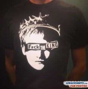 GoT Fan Eric Wearing Fuck the King T-Shirt