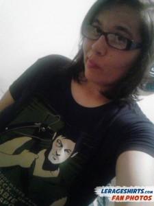 Krystina from Guam Wearing Daryl Dixon Redneck T-Shirt