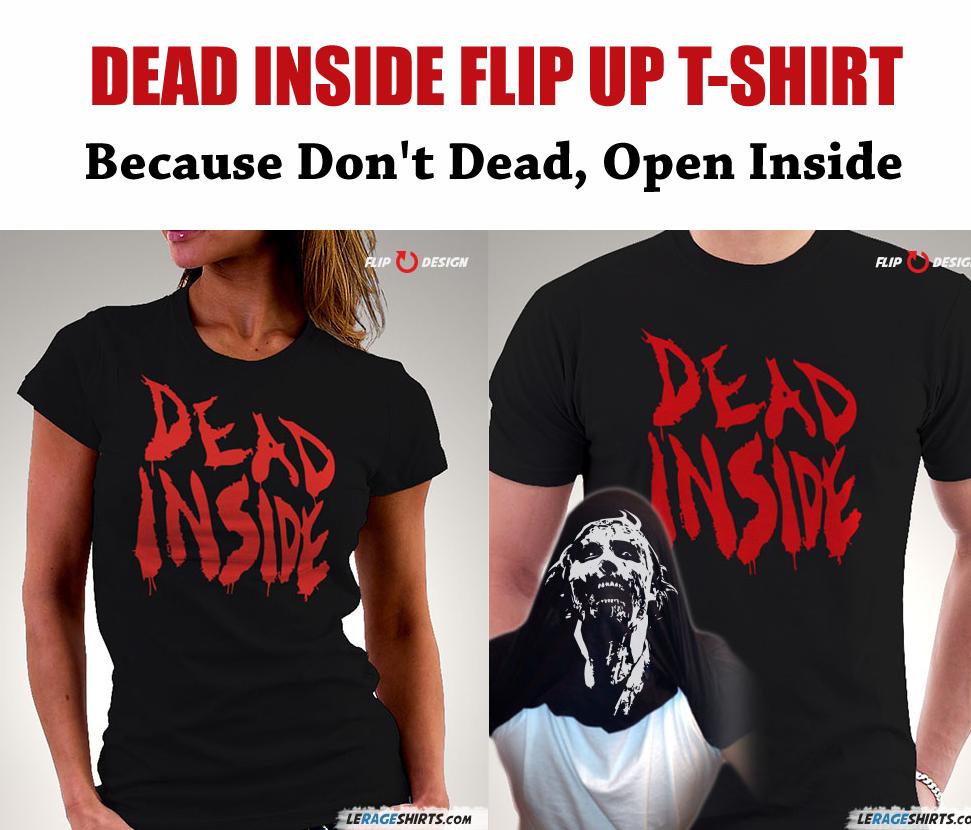 Dead Inside Flip Up The Walking Dead T-Shirt