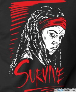 The-walking-dead-survive-shirt-michonne