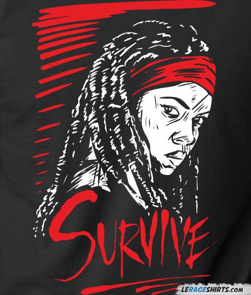 The-walking-dead-survive-shirt-michonne