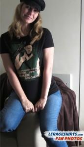 Juanita from Australia Wearing Daryl Dixon T-Shirt