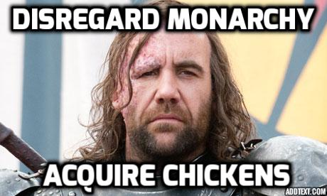 disregard monarchy acquire chickens