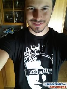 stefano bergamo italy fuck the king t-shirt