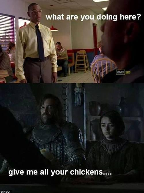 the hound and arya visit gus fring