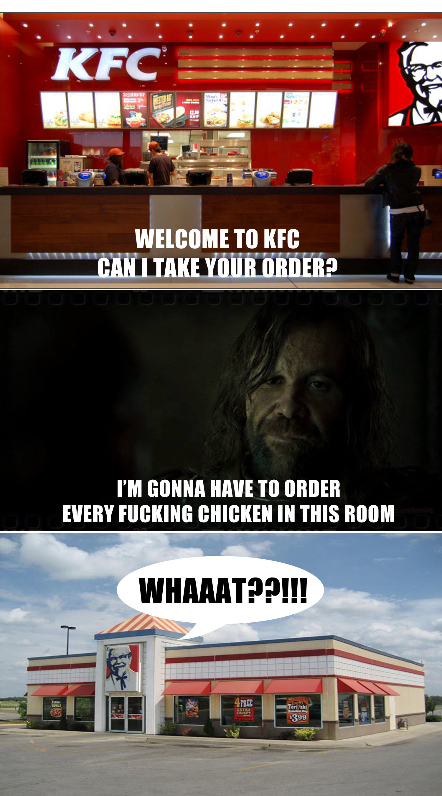 the hound orders all the chicken in kfc
