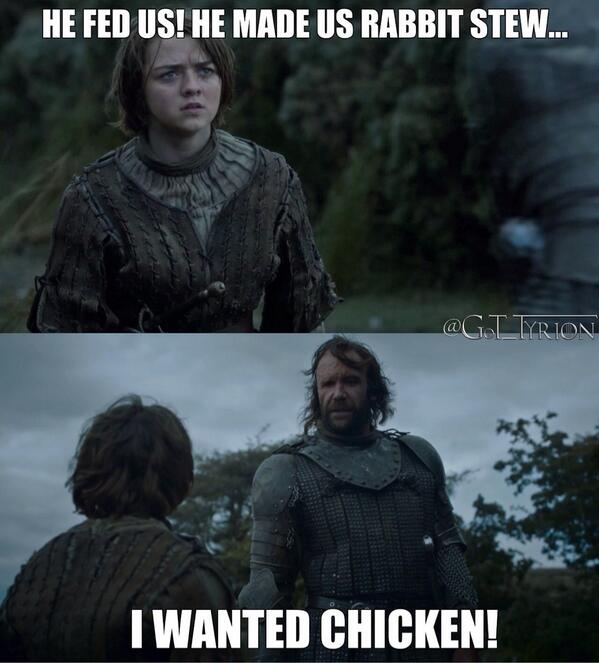 the hound wants chicken not rabbit stew