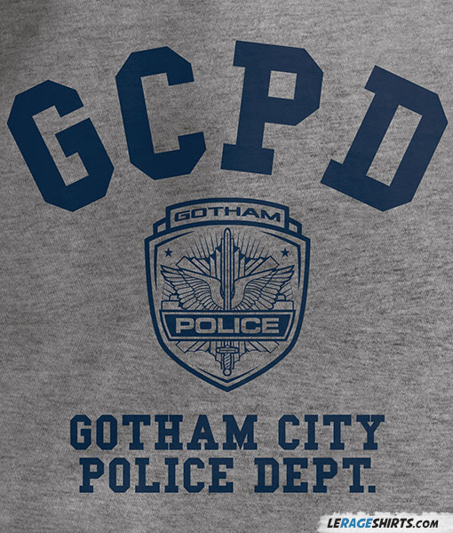 GCPD GOTHAM CITY POLIE DEPARTMENT 4 shirt black white tshirt men/'s free shipping