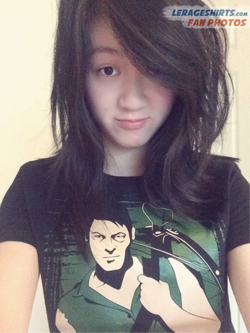 christy from arlington twd daryl dixon t-shirt