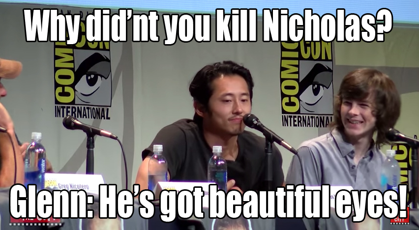 the walking dead 2015 comic con panel