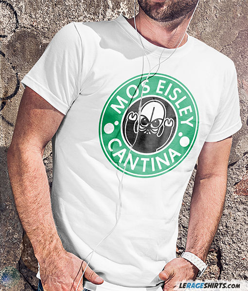 Star Wars Mos Eisley Cantina white tee with green guys
