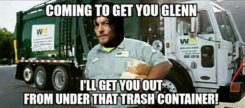 Or that Daryl would come to his rescue.