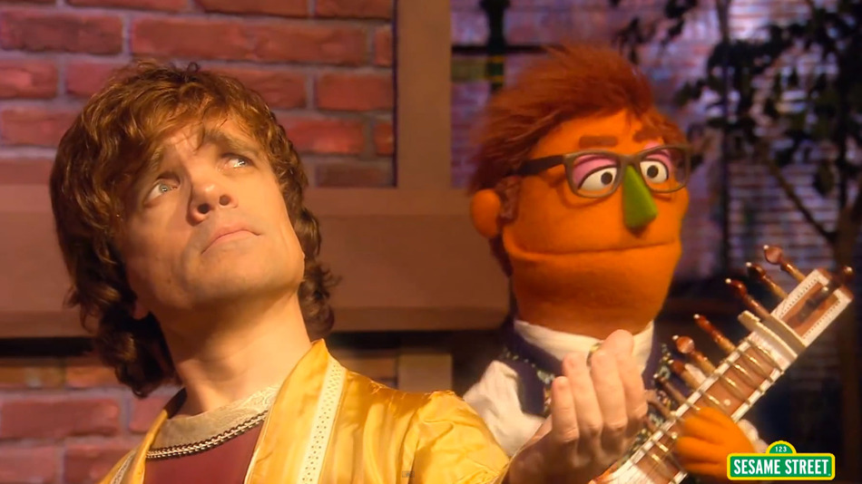 Peter Dinklage sings Simon Says in Sesame Street.